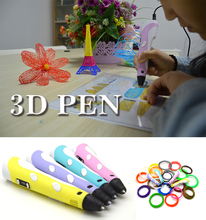 DIY 3D Printing Pen Crafting Modeling PLA ABS Filament Arts Printer For Kids