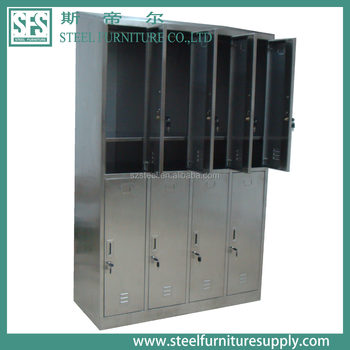 8 Door Stainless Steel Storage Lockers Luggage Parcel Locker For Student  And Staff