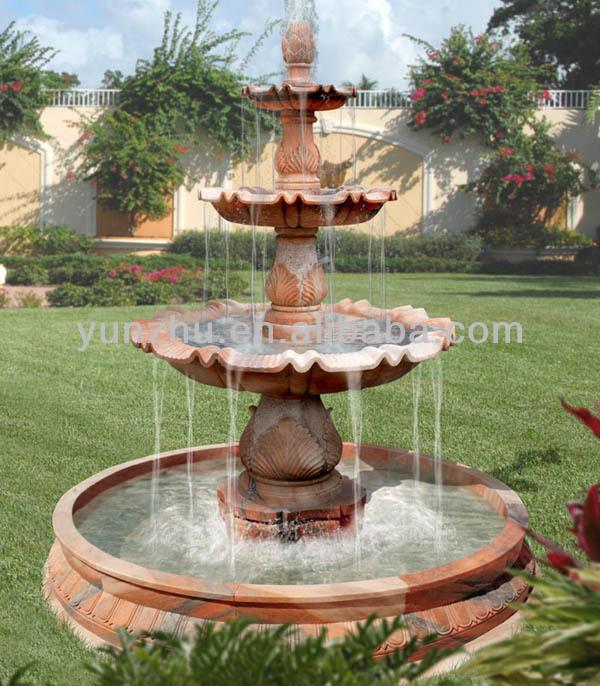 Tipo de productos y 3 capa de jard n de piedra piedra - Jardin fuente de piedra ...