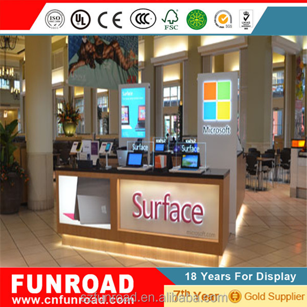 2016 New Small Watches Kiosk Woodend Display Cabinets With Led ...