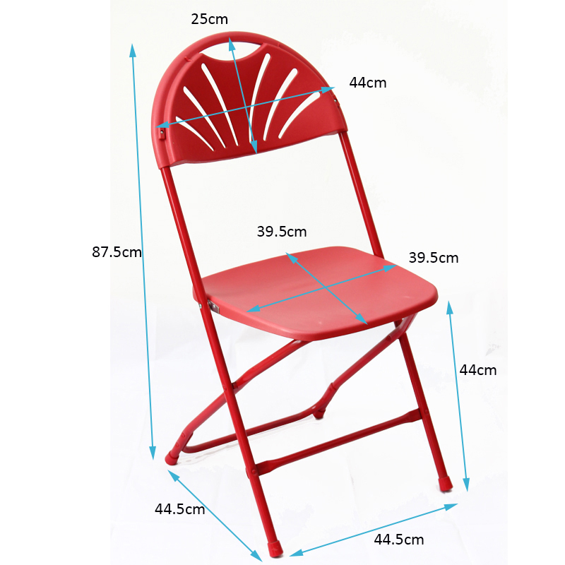 Outdoor Patio Garden Wedding Party Event Furniture Chairs Portable Fanback Plastic Chair Foldable
