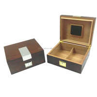 Custom high quality luxury wood cigar humidor case wooden packaging cigar box