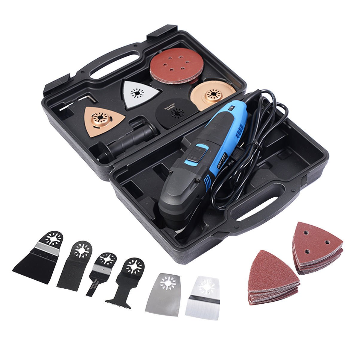 Goplus 80PCS Multi-Function oscillating multi tool saw set For Wood Plastic Metal New