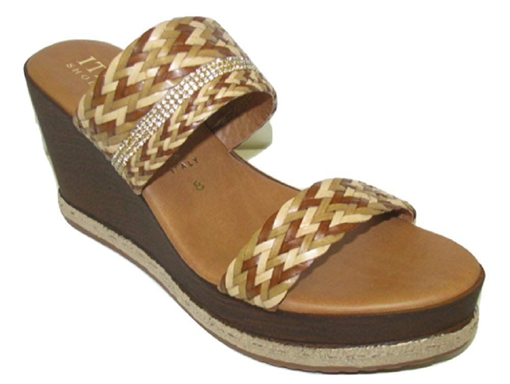 f89a0605d Get Quotations · ITALIAN Shoemakers Women s Wedge Sandals - 5515S8 -  Natural Multi