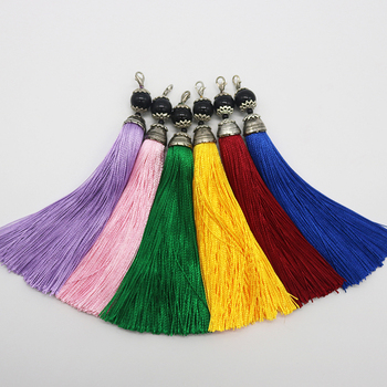 high quality purple beaded curtain tassel fringe /trim for home fitment