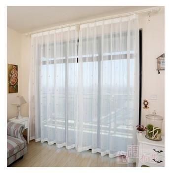 romantique petit jianhua chambre balcon du salon baie vitr e rideaux crans blanc raffin gaze. Black Bedroom Furniture Sets. Home Design Ideas