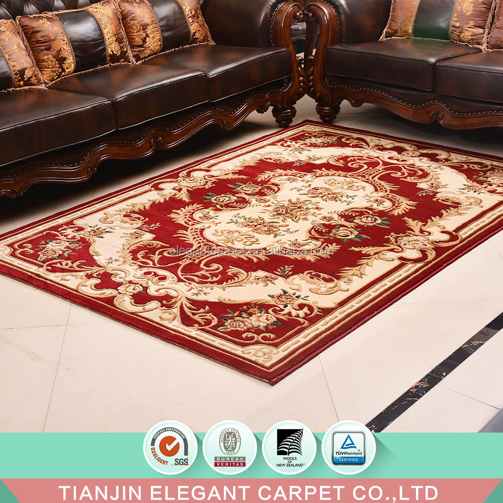 2018 fashion machine weave persian wilton polypropylene jacquard carpet for living room