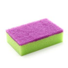 Colorful abrasive sponge scouring pad kitchen janitorial supplies