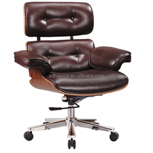Boss Brown Leather High-Back Executive Button Tufted Chair
