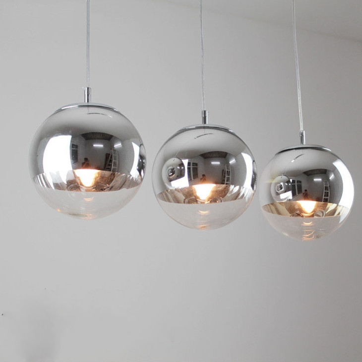 tom dixon chrome boule en verre bubble suspension lustre 3 lumi res dans clairage suspendu de. Black Bedroom Furniture Sets. Home Design Ideas
