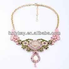 2014 new style fashion wedding jewelry, beautiful crystal bridal necklace