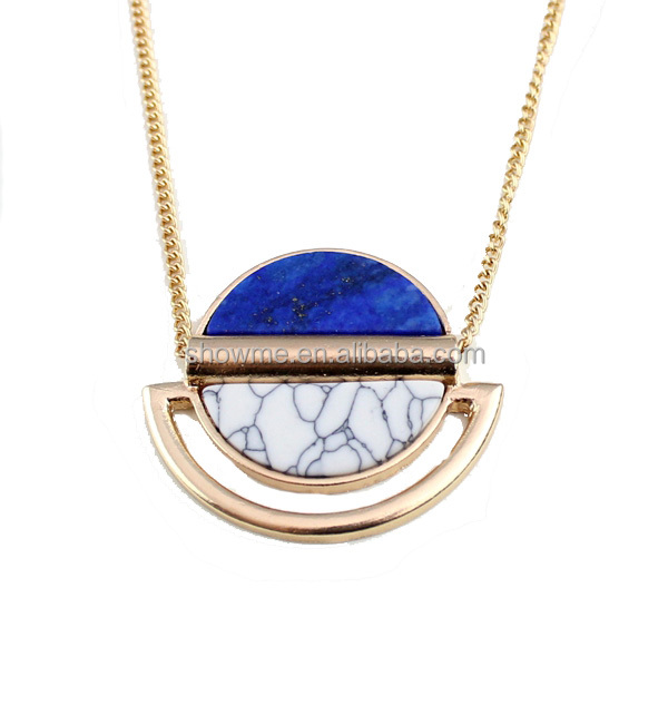 new york costume jewelry gold chain lapis turqoise necklace good quality new design long necklace jewelry