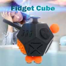 Mini Fidget Cube Finger Toys Puzzles& Magic Cubes Anti Stress Reliever Funny Relax Gifts For Kids 13 colors Desk Spin Magic Cub