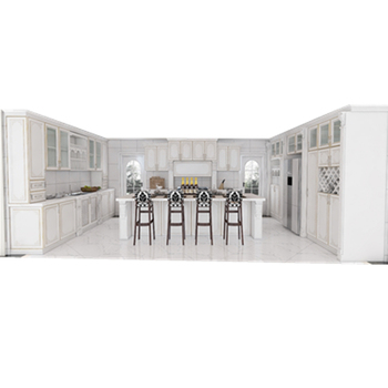 Luxury kitchen cabinet made in china for project designs