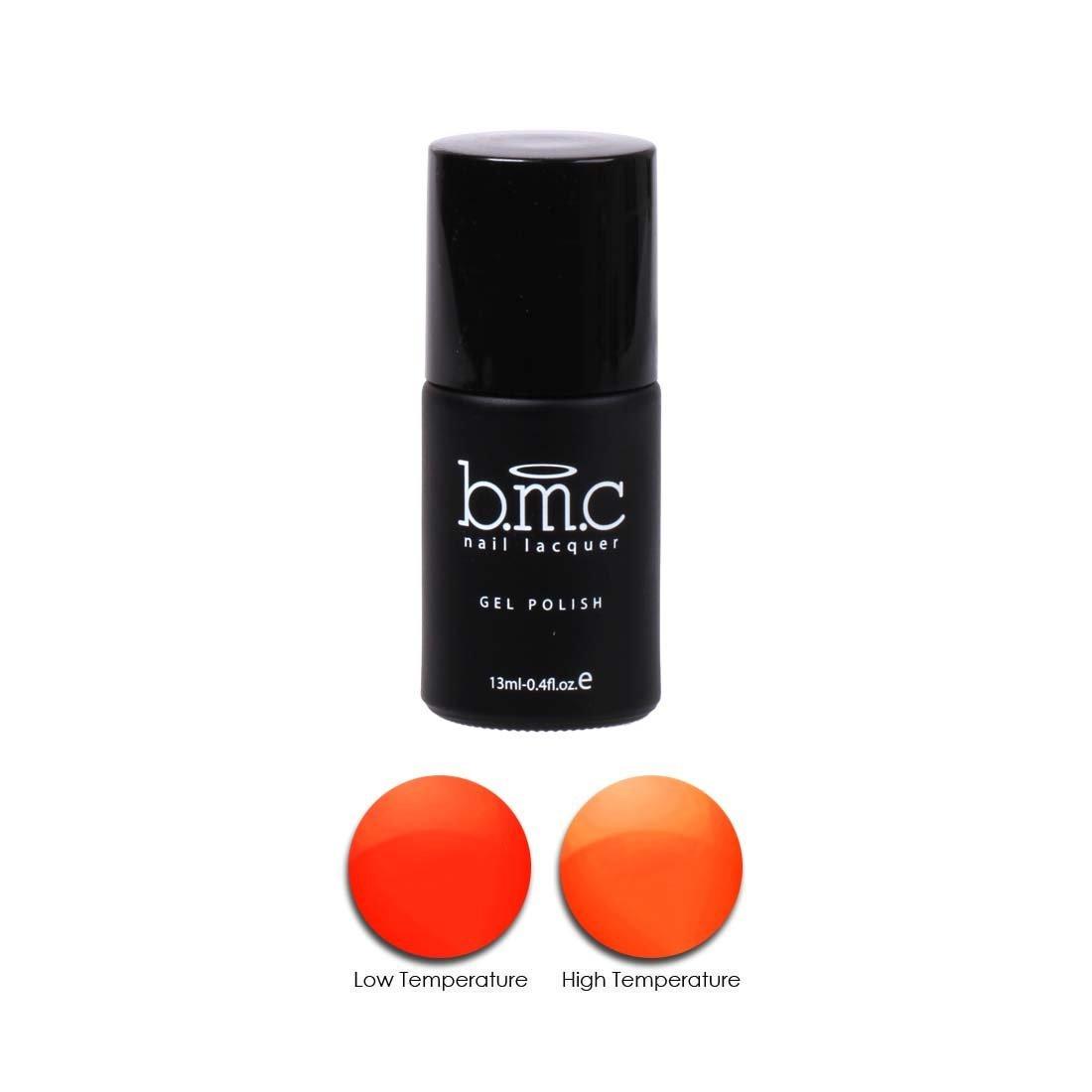BMC Thermal Effect Color Changing Bright to Pastel Orange Nail Lacquer Gel Polish - Awakening Collection, Sorbet Surge