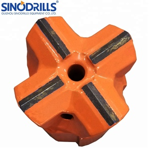 Hot Press Technology R38 76mm Retract Skirt Cross Button Rock Drill Bits/Mining Exploration Drilling Rig