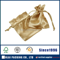 Wholesale satin pouch for hair packing with company logo