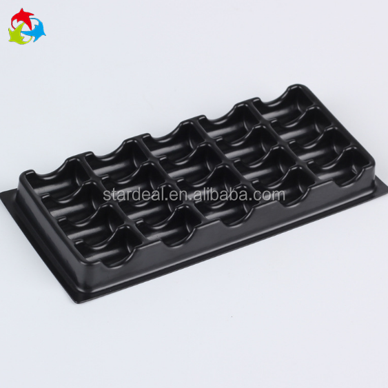 Customize gift store display tray blister plastic box for ring and Earrings