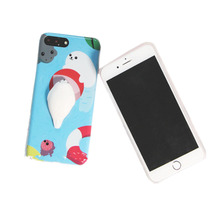 2017 newest style custom 3d silicone phone case soft TPU slow rising squishy phone case for iphone 6s