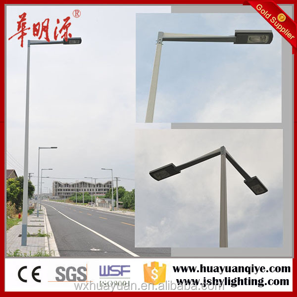Single or double arm road 6m street light pole