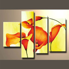Newest Style Group Modern Flower Oil Painting