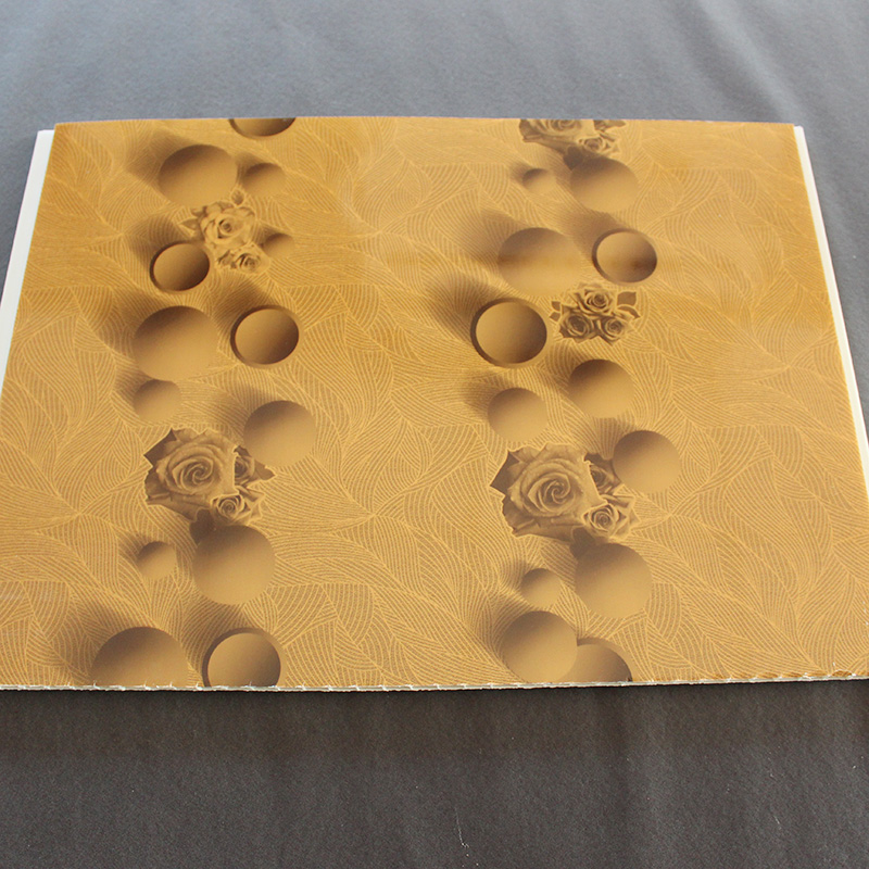 New Designed Squared Hot Stamping Plastic PVC Ceiling Panel 5.95m
