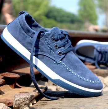 cy10033a men blue jeans canvas shoes fashion sport casual