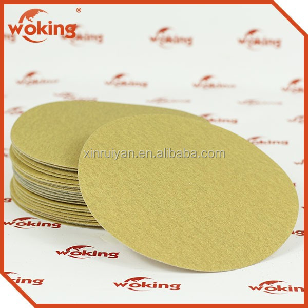 Aluminum Oxide Abrasive Disc For Car Polishing Yellow Polishing Sanding Paper Disc Special Polishing And Grinding