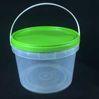 Food grade container 1 gallon plastic bucket with lids