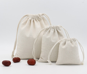 Wholesale Custom Canvas Drawstring Bag Food Pouch in Packaging Bags