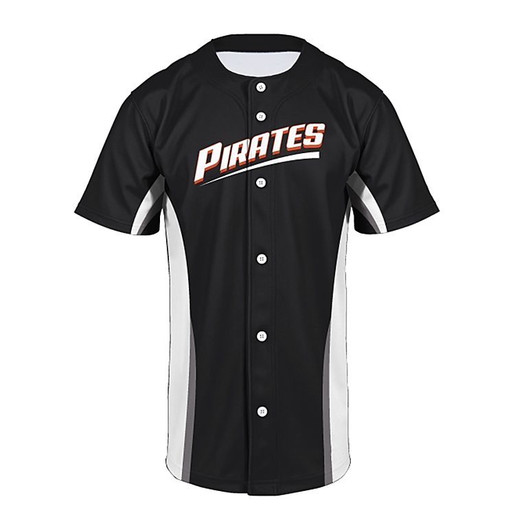 Slionprince wholesale black Unisex Arc Bottom 3D Print Baseball Team Jersey Shirt