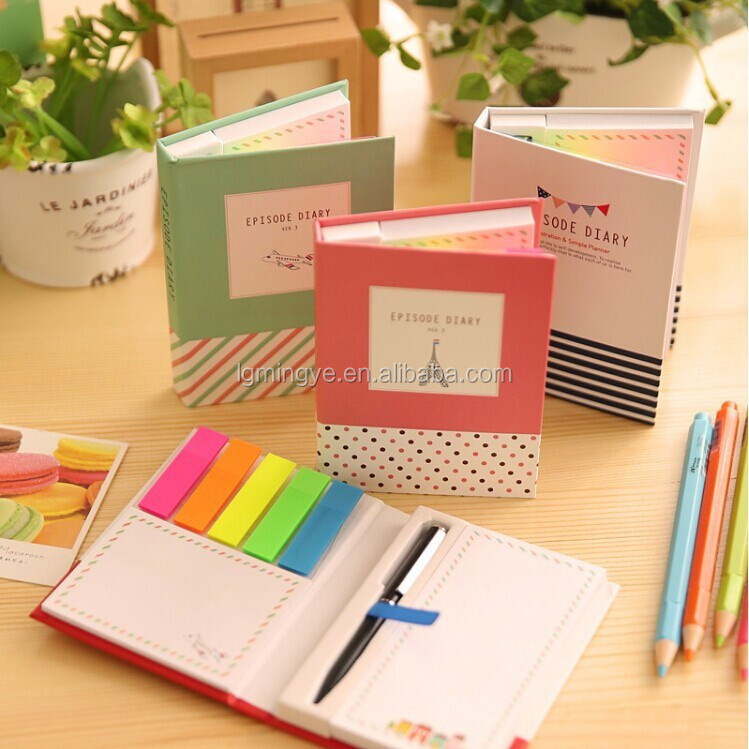 Easy Peel Off Sticky Note with small ball pen