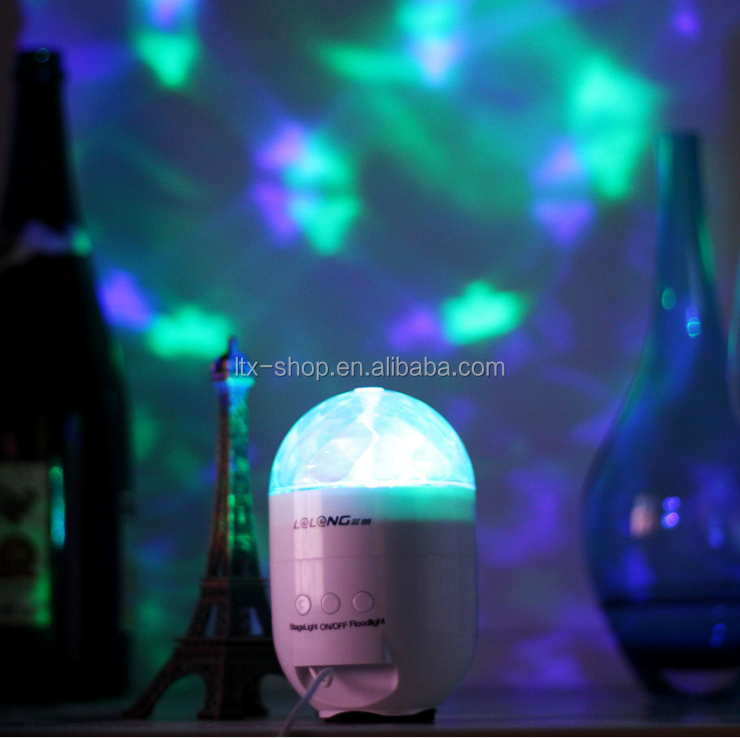 New Arrival Multifunctional Music Loudspeaker Stage Laser Projection Night Light, Decorative Atmosphere Colorful Changing Light