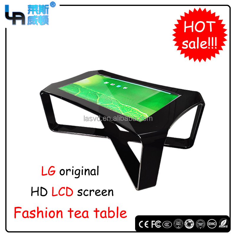 42 inch infrared Aluminium alloy tea table design touch screen Coffee table