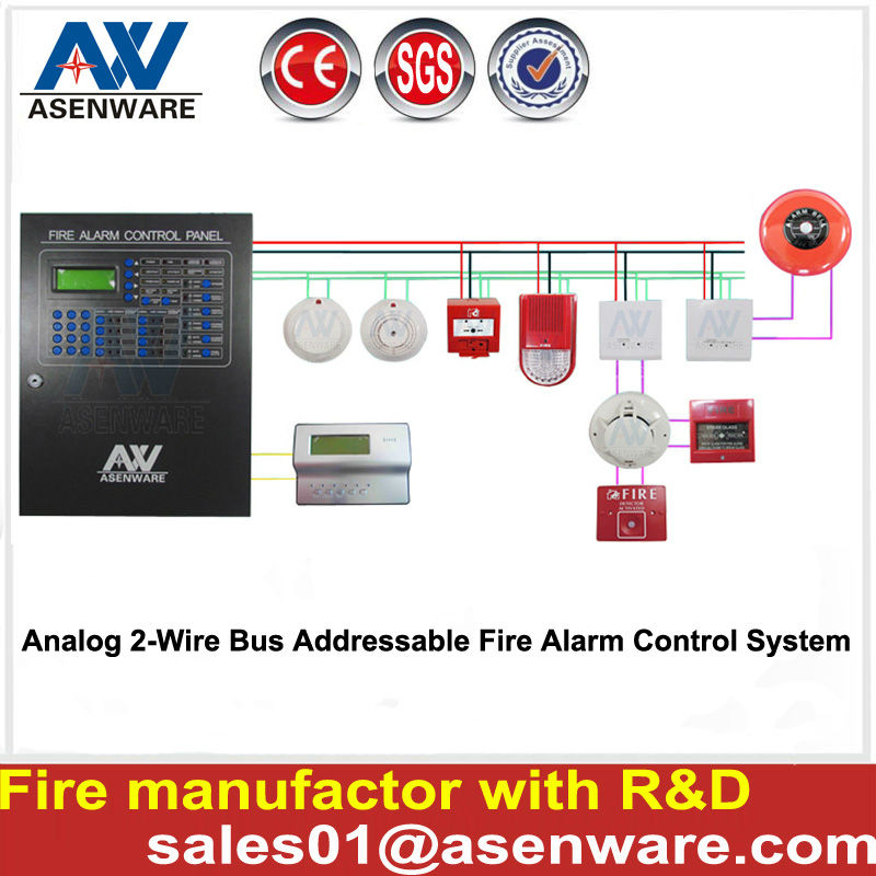 Fire Alarm System Addressable Fire Alarm Control Panel Smoke