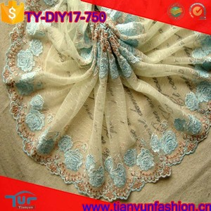 china cheapest wholesale chemical guipure scalloped net embroidery lace trim
