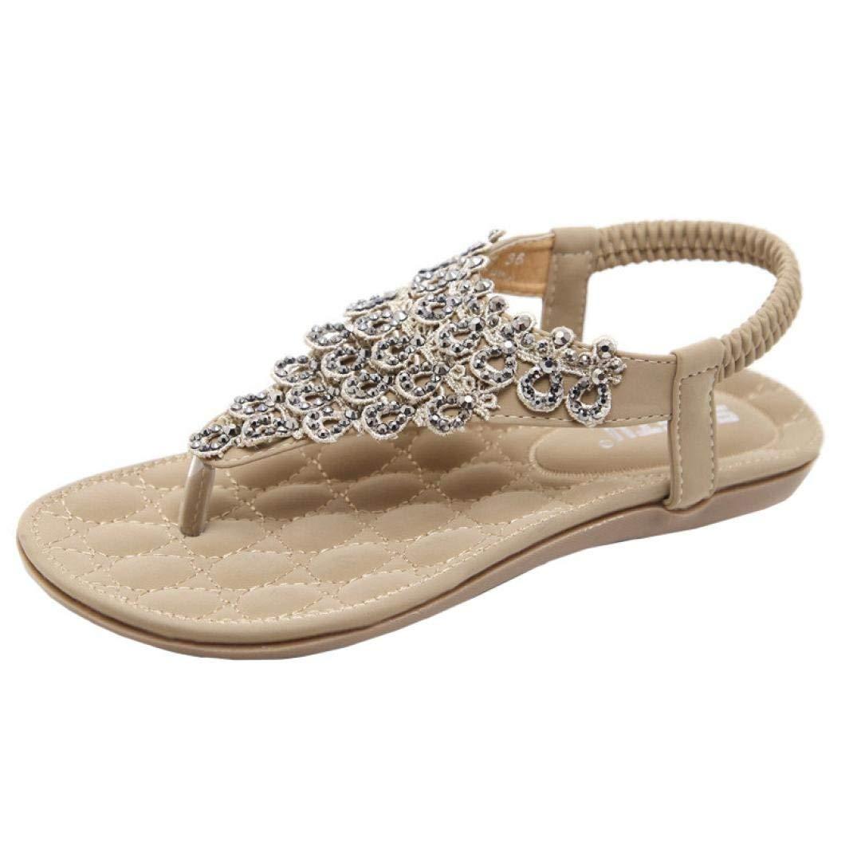 d7fc1d39715f1 Women JJLOVE Bead Bohemia Lady Slippe Sandals Peep-Toe Outdoor