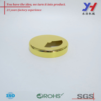 OEM ODM china of gold plated aluminum cap/supply of gold plated aluminum cap