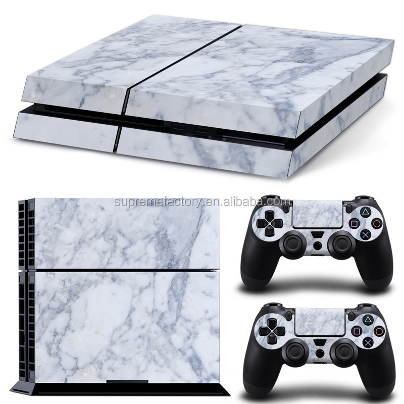 Faceplates, Decals & Stickers Video Game Accessories Ps4 Slim Sticker Console Decal Playstation 4 Controller Vinyl Skin White