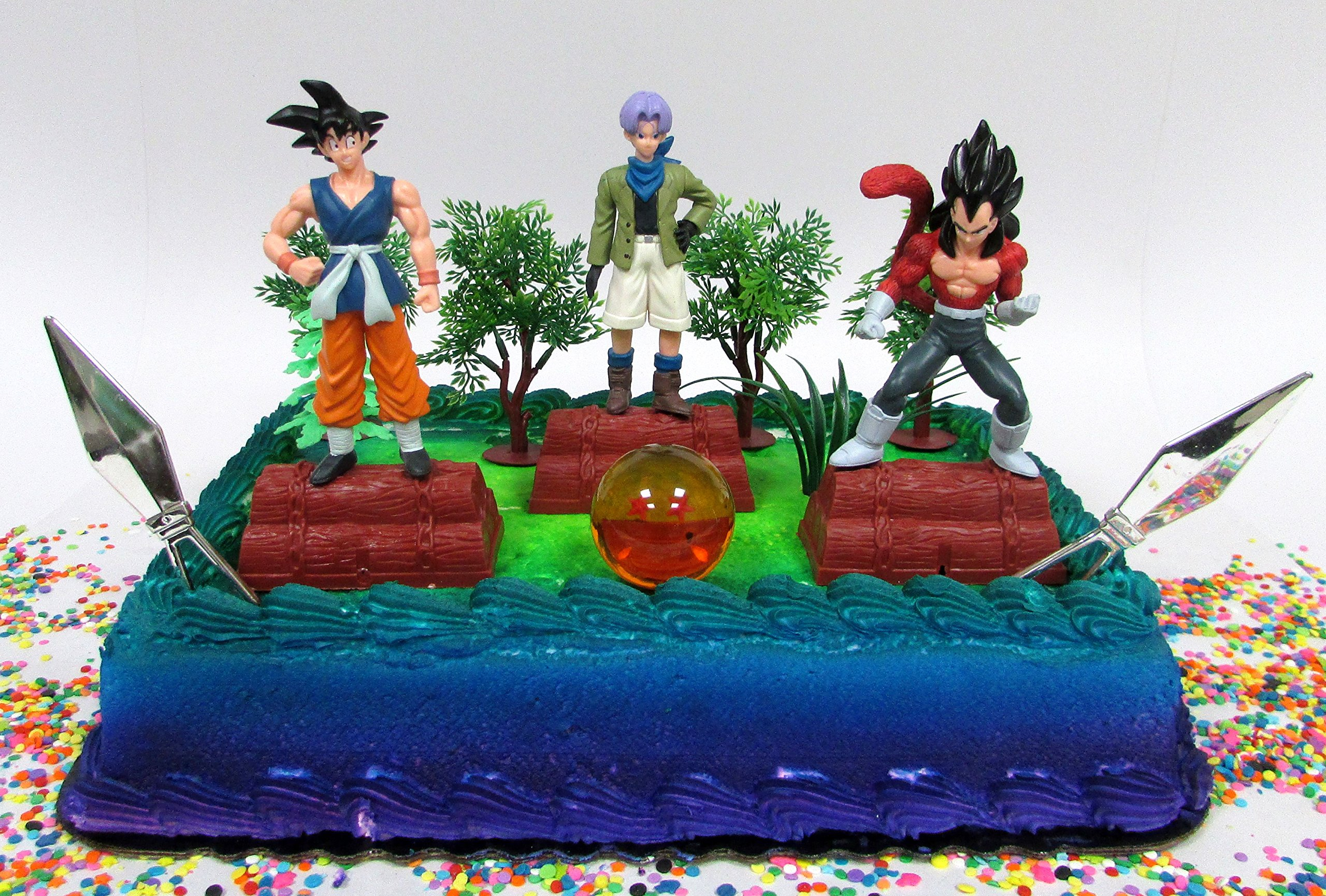 Get Quotations Dragon Ball Z Birthday Cake Topper Set Featuring Characters And Themed Decorative Accessories