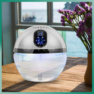 air purifier air freshener raindrop shape led uv lights led screen toilet cleaner water washed air refresher