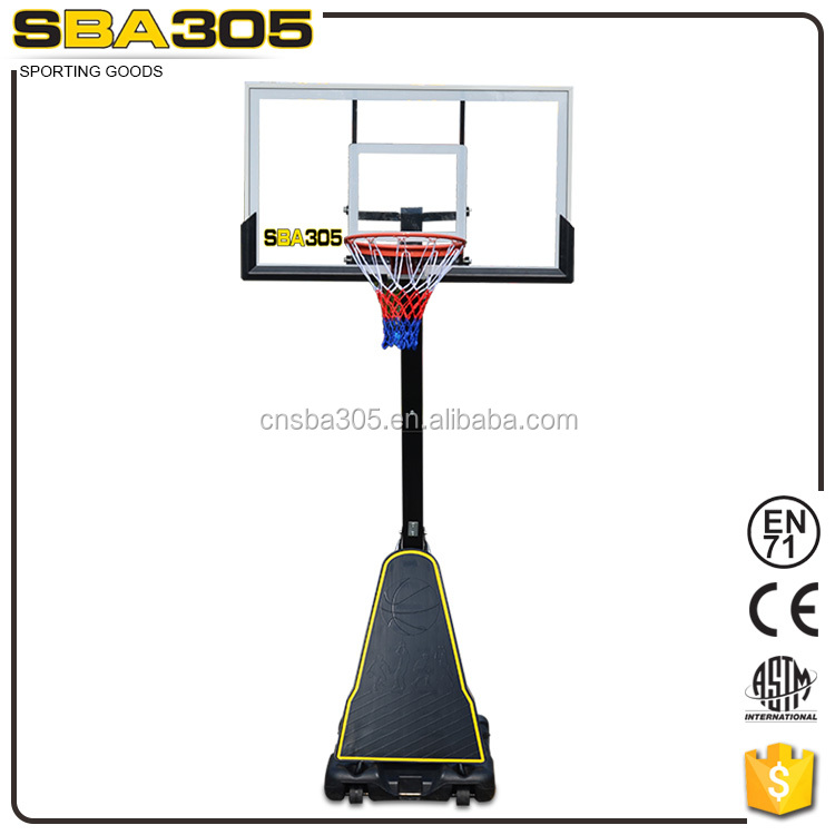 portable adjustable basketball poles and fiberglass basketball backboard stand