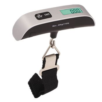 50KG Digital Weight Scale Electronic Portable Travel Hanging Digital Luggage Scale