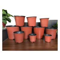 Brand new pe hydroponics Plastic flower pot 1 gallon nursery pots with low price