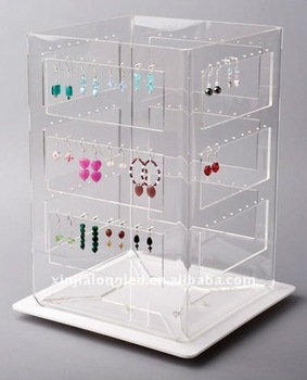 Ladder Shaped Acrylic Earring Organizer For All Types