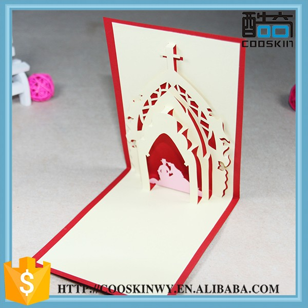 Custom Logo Decorative Paper handmade greeting cards for new year
