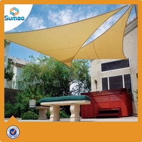 Hot sale HDPE plastic sun shade sail awning for leisure place