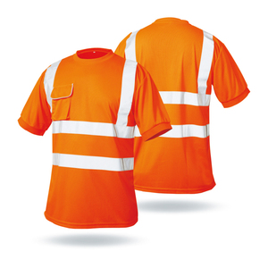 LX709 High Visibility Short Sleeve Road Safety Work Running Reflective shirt