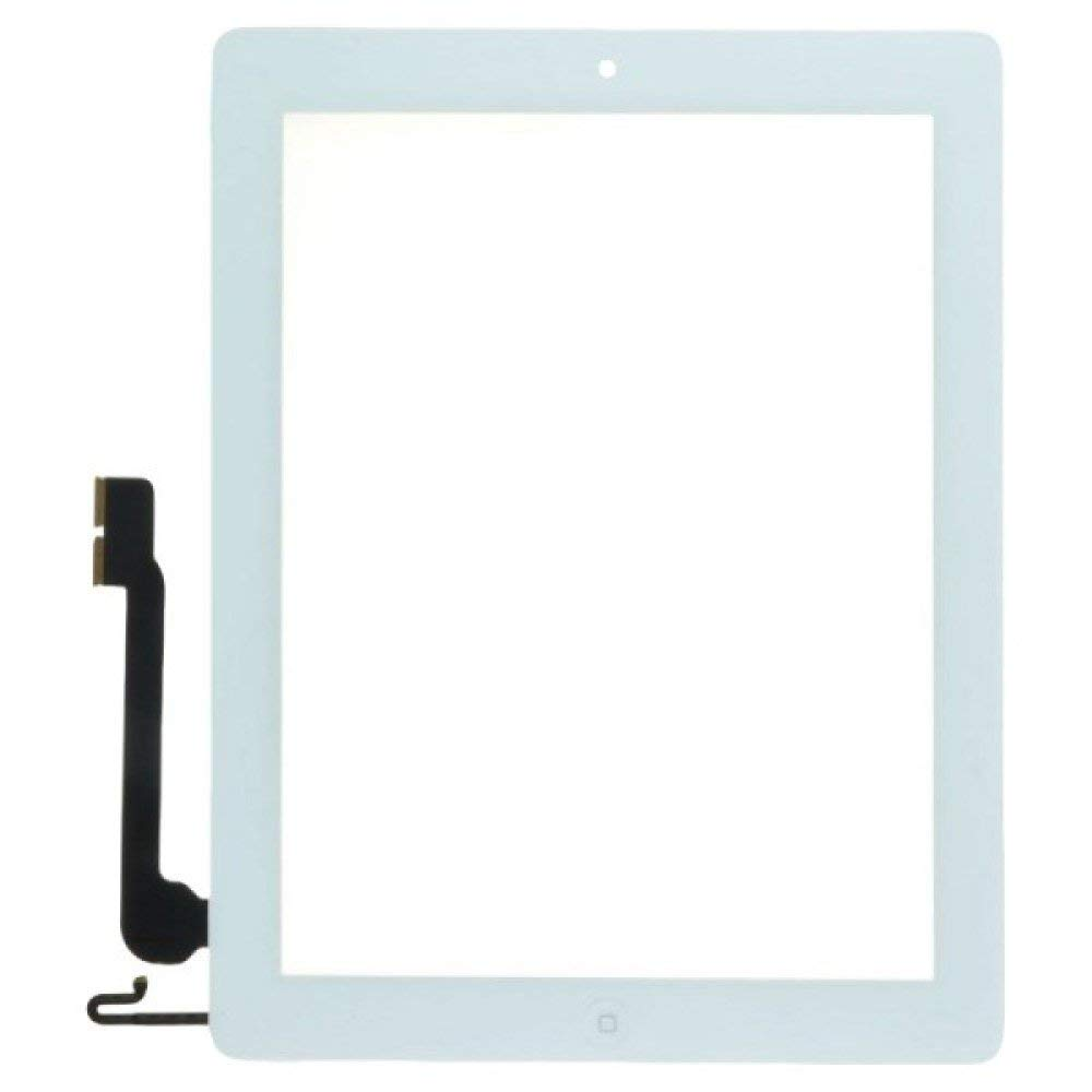Digitizer & Home Button Assembly for Apple iPad 4 (White) with Glue Card