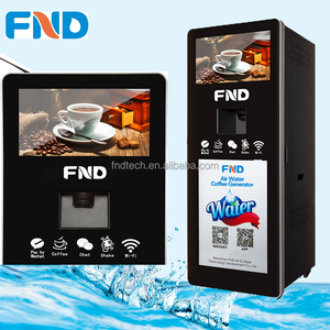 FND Air water coffee vending machine 100L/D,instant coffee or Freshly brewed coffee
